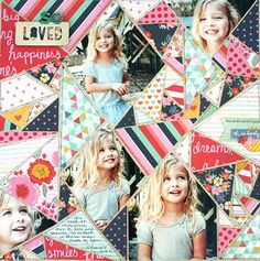 """""""So Loved""""  Patchwork Quilt w/ Papers & Pictures ~ Scrapbook, SMASH book, Project Life, Journal, Card"""