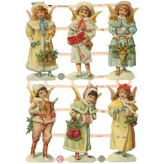 free angel postcard image | Home » Victorian Snow Angels Scraps ~ Germany ~ New for 2012
