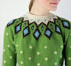 Fair Isle Sweater / Knit Nordic Sweater by jessjamesjake on Etsy, $60.00