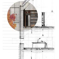 detail section, Tekstiler Kvartal, Nørrebro, Copenhagen | Chris Dove, Mackintosh School of Architecture, Glasgow School of Art, Diploma, 2014