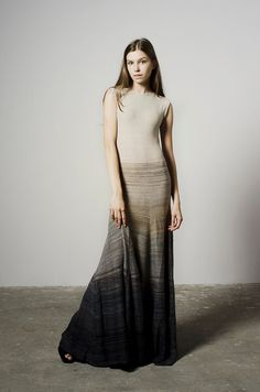 LONG MELANGE DRESS