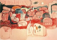 Deluge II by Philip Guston (1975). Style Neo-Expressionism. Genre, figurative.
