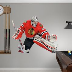 Corey Crawford Hockey Bedroomkids Bedroombedroom Decorblackhawks Hockey Chicago