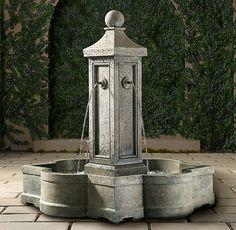 A Garden Centerpiece: Provence Fountain - Restoration Hardware $2,000