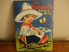 Vintage The Buckaroo's Coloring Book  1950s by RowlandParkVintage, $12.00