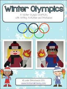 Are you ready for the Winter Olympics? Your students will warm up to these Winter Olympic Buddies! These cuties will brighten your classrooms, and . Olympic Idea, Olympic Sports, Olympic Games, Olympic Crafts, Winter Activities, Writing Activities, Classroom Activities, Classroom Ideas, Kids Olympics