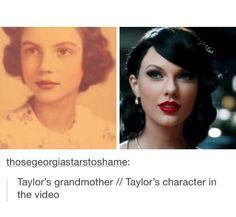 Taylor's character, Majorie Finn, in the Wildest Dreams music video was named after and based off of her grandmother.