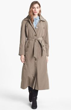 London Fog Long Trench Coat with Detachable Hood & Liner (Regular & Petite) available at #Nordstrom