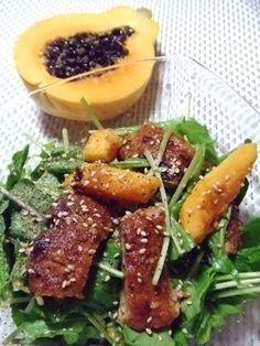 うなぎとパパイヤのサラダ 4/22 eel and papaya salad