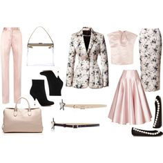 """Pretty in Pink with Rochas"" by fashionshower on Polyvore"