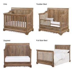 Bertini Pembrooke Convertible Crib in Natural Rustic – Baby Ideas