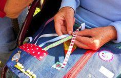 Quilts & Patchwork - Spaß-Decke für Menschen mit Demenz - ein Designerstück von Viele-Falten-Sabine bei DaWanda