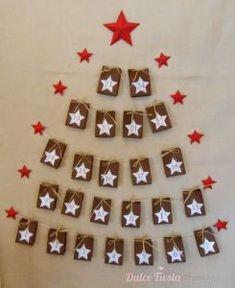 calendario de adviento Xmas, Christmas Tree, Advent Calendar, Holiday Decor, Diy, Holiday Parties, Christmas Decor, Christmas Ornaments, Christmas Crafts