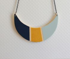 Wooden moon necklace