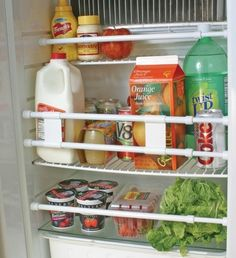 These RV refrigerator bars keep your cans and bottles in your refrigerator and cabinets secure while traveling.