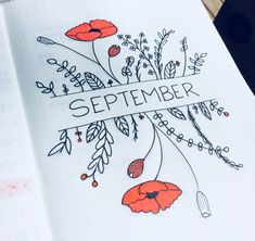 Bullet Journal September - New Ideas Bullet Journal School, Bullet Journal Inspo, Bullet Journal Headers, Bullet Journal Monthly Spread, Bullet Journal Cover Page, Bullet Journal 2019, Bullet Journal Notebook, Bullet Journal Aesthetic, Bullet Journal Ideas Pages