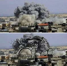 gaza-israel-rocket-strike-smoke-art-7