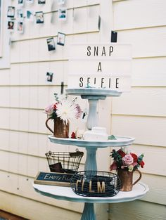 Snap a selfie: Photography Assistance: Jeffrey Oltman - imagesbyjeffrey.com Photography: Wendy Laurel - wendylaurel.com Read More on SMP: http://www.stylemepretty.com/destination-weddings/2017/06/02/maui-backyard-watercolor-wedding/