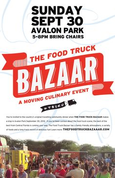 September 30th Food Truck Bazaar in Downtown Avalon Park