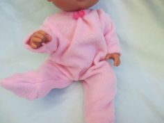 """Doll Clothes Baby Alive Other 12 13"""" Dolls PJ Footed Sleeper Very Soft Pink 