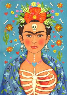 Frida's Heart: Signed A4 Limited Edition by LauraRobertsonArtist