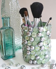 Click Pic for 18 DIY Bathroom Storage Ideas - Bling Storage Pot - Bathroom Organization Ideas