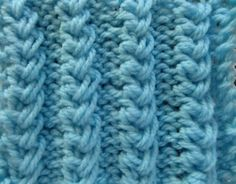 "Knit Pattern * EASY """"BABY CABLES """" *"