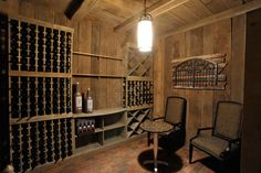 simple, what kind of wood?? Olentangy Falls ~ Delaware, OH - traditional - wine cellar - cincinnati - Weaver Custom Homes