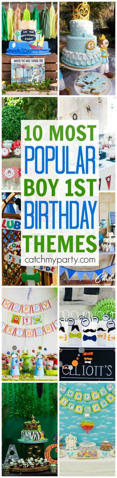 10 Most Popular Boy 1st Birthday Party Themes   CatchMyParty.com