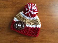 Crochet Newborn San Francisco 49ers Inspired by CrochetByClaudia, $18.00