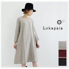 【Lokapala ロカパラ/ローカパーラ】<br>リネン ウール ワンピース (lp160912)