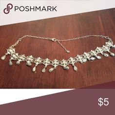 Evening jewelry silver collar necklace All my jewelry can be bundled for a great discount and you can get a piece of your choice free if you buy a bundle of clothes from me - comment on the one you want after purchase and I will ship it with your order! Avon Jewelry Necklaces