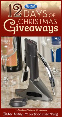 It's the third day of our 12 Days of Christmas Giveaway, and today we're giving away a Trudeau Trulever Corkscrew. Giveaway ends tonight 12/3/15 at 11:59pm ET.