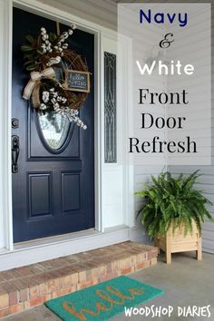 Navy is always a classic color for any home because it is timeless. If you're dying to change up the color of your front door, check out how to do it here!