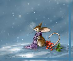 Merry Mousie Christmas by jaxxblackfox on DeviantArt