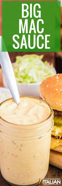 Big Mac Sauce is purely irresistible. It is so creamy and tangy, I had to have it at home! Whip up a batch today using simple ingredients and spices. #BigMacSauce #McDonaldsCopycat #Sauce