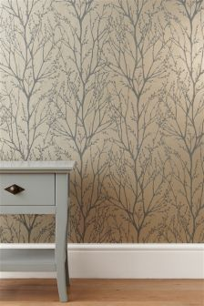 Buy Twigs Wallpaper online today at Next: Rep. of Ireland Mink Wallpaper, Striped Wallpaper, Wallpaper Online, Room Wallpaper, Wallpaper Ideas, Stunning Wallpapers, Wall Boxes, Hallway Decorating, Decorating Ideas