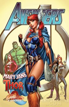 Avengers #8 J. Scott Campbell Store EXCLUSIVE Cover-2