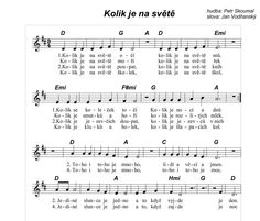 ,koľko je na svete School Songs, Preschool Themes, Kids Songs, Crochet Hair Styles, Pre School, Ukulele, My Children, Worksheets, Sheet Music