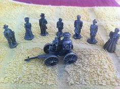 PEWTER FAMILY & FIRETRUCK set of 8 International Resourcing Services 1992