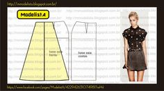 Easy Sewing Patterns, Sewing Tutorials, Sewing Diy, Fashion Sewing, Diy Fashion, Sewing Clothes, Diy Clothes, Costura Fashion, Flippy Skirts