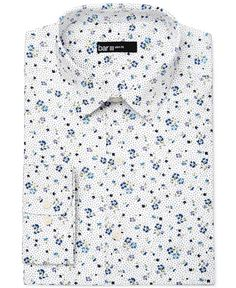 Bar III Mens Slim-Fit Stretch Max White Solid Dress Shirt