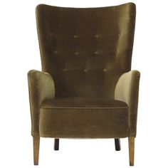 1930's Scandinavian Wingback Chair | From a unique collection of antique and modern lounge chairs at http://www.1stdibs.com/furniture/seating/lounge-chairs/