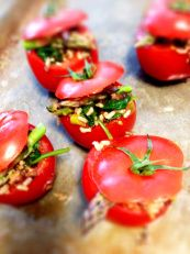 Stuffed Tomatoes http://simplywithout.com/recipes/stuffed-tomatoes/