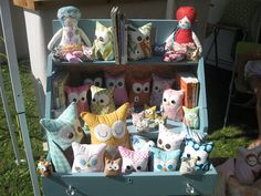 Craft show display by aprilhas5kids, via Flickr. . . love the idea of repurposing a piece of furniture like this on the tabletop