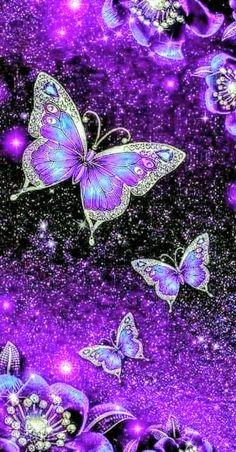 Beautiful Wallpaper For Phone, Cute Galaxy Wallpaper, Bling Wallpaper, Beautiful Landscape Wallpaper, Purple Wallpaper Iphone, Flower Phone Wallpaper, Purple Butterfly Wallpaper, Wallpaper Nature Flowers, Scenery Wallpaper