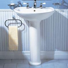 "20"" American Standard Cadet Pedestal Bathroom Sink & Reviews   Wayfair $162"