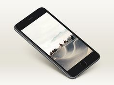 An iPhone 6 Plus mockup created with smart objects. Free PSD created and released by Shakuro.