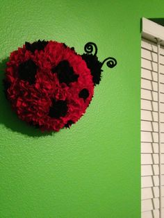 Children's wall decor  red ladybug for by CountryGooseBoutique, $25.00