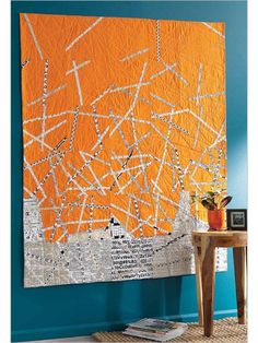 Decorating with quilts: this quilt by Kevin Kosbab comes alive on the…